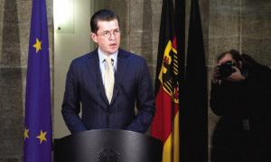 德国国防部长宣布辞职