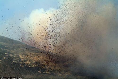埃特纳火山喷发近景