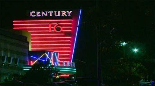 美国丹佛电影首映式发生枪击事件的电影院(网页截图)
