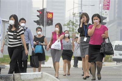 印尼燃烧林地致新加坡雾霾指数爆表|新加坡|印