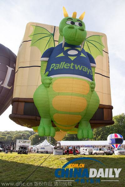英国际热气球节开幕 奇葩造型扮靓天空吸引眼球[1]- 中国日报网图片