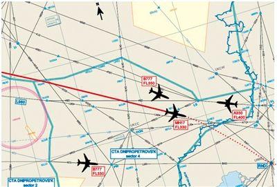空难调查报告称,事发时MH17附近还有3架客机。