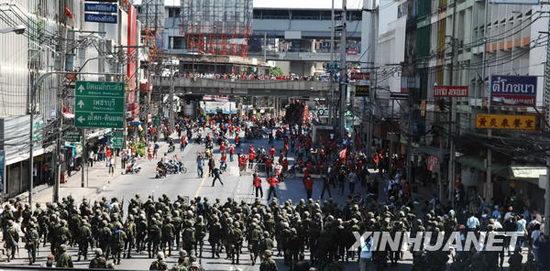 泰国军队在曼谷多处开展驱散示威者行动(组图)