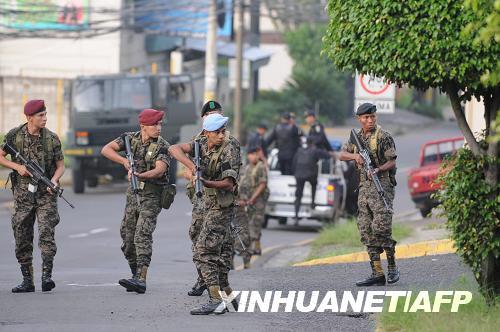 洪都拉斯发生军事政变总统遭扣押(组图)