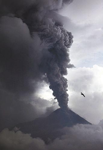 印尼火山浓烟高达8000米多趟航班停飞(图)