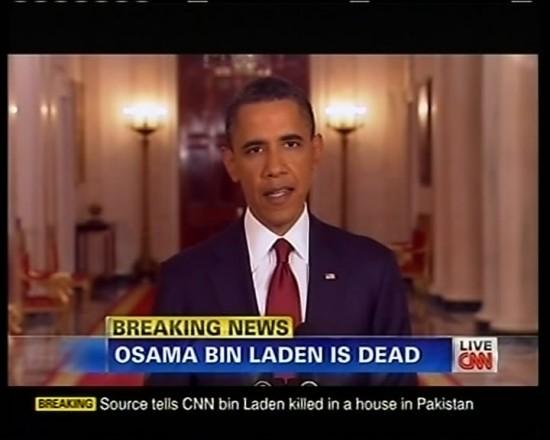 美国时间5月1日 奥巴马宣布拉登被击毙