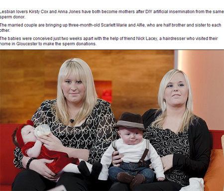 安娜·约翰和科斯蒂·考克斯皆生下孩子(网页截图)