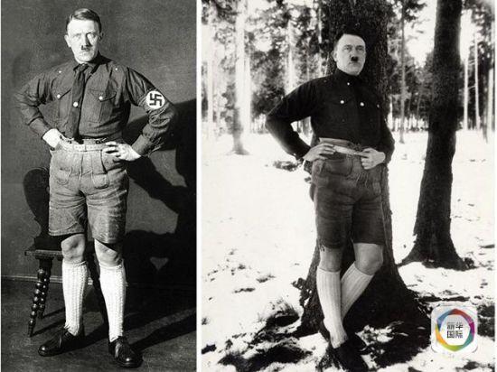 被希特勒封杀的短裤加长袜组合照。(图片来源:《每日邮报》网站)