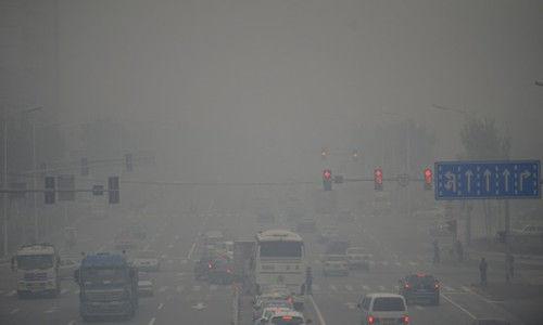 东北地区进入今冬供暖季,沈阳遭遇六级严重雾霾污染