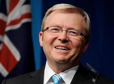 澳总理陆克文忙里偷闲写儿童读物