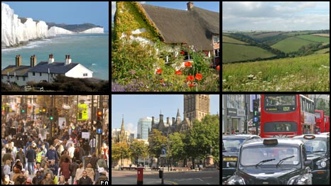 Various images of England