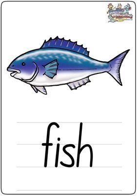 "英语学习卡片""fish"""
