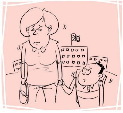 图片说明:一位从北京来英国访问的老师,为了女儿的学校,前后奔波了一个月,甚至当着工作人员的面哭了鼻子。
