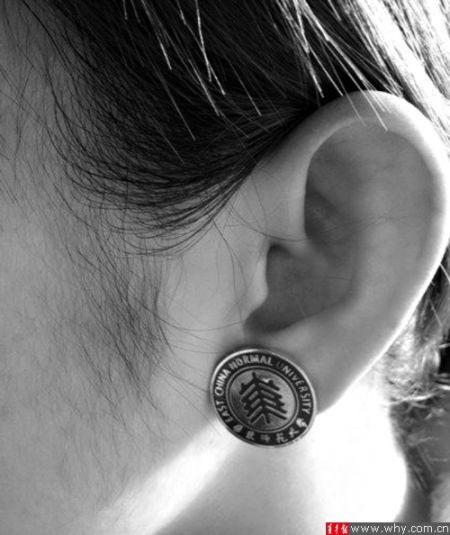 校徽版耳钉