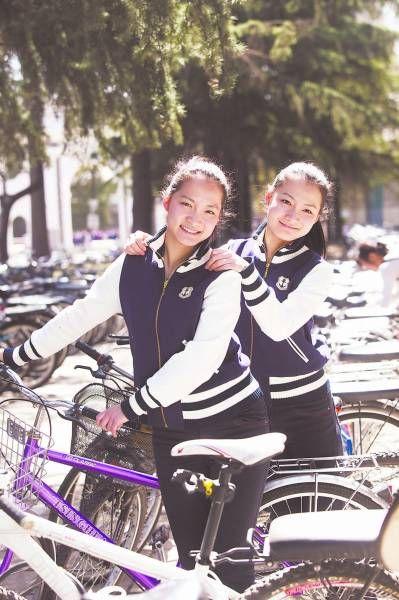 清华大学的双胞胎姐妹马冬晗、马冬昕