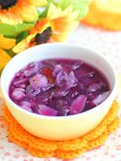 紫薯银耳百合糖水