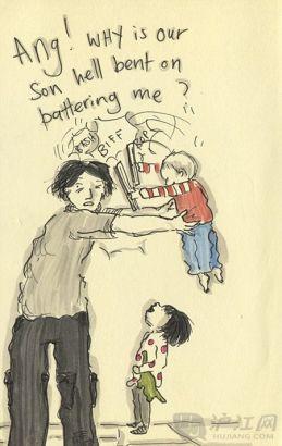 英点滴用孩子记录母亲的v点滴学生(图)漫画溺水漫画图片
