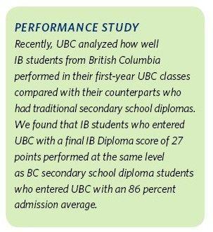 IB大一新生和加拿大高中文凭大一新生对比