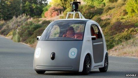 """热词:谷歌研发新款""""无人驾驶汽车"""""""