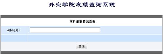 外交学院高考录取查询