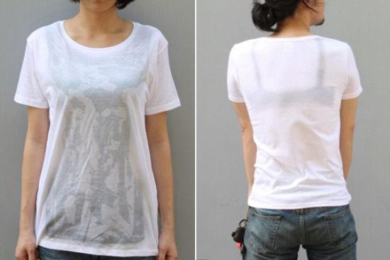 """日本推出""""湿身透视""""效果创意T恤 惊呆路人"""