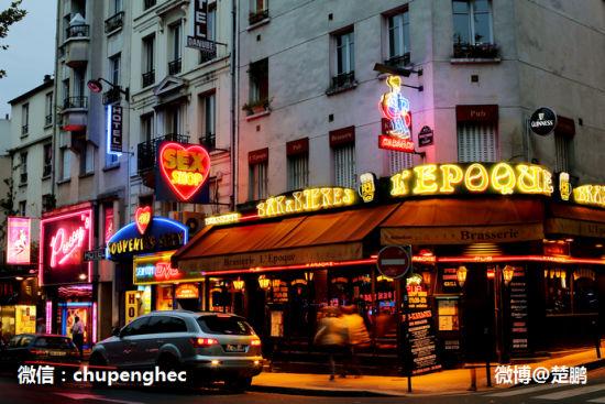 夜色撩人的巴黎红灯区(组图)