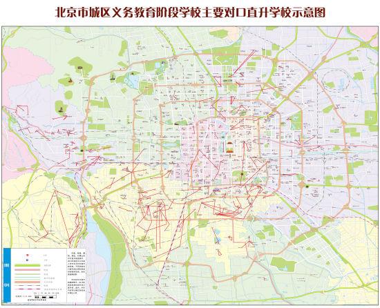 北京市教委发布小升初对口直升校示意图