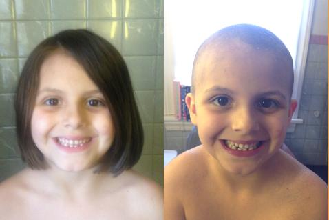 美国俄亥俄州的6岁女孩埃琳觉得爸爸的光头很好看,于是想有样学样,要求母亲让她剃光头发,最终要求获得满足。