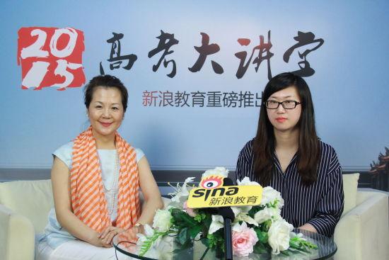 燕京理工学院副校长刘元园女士(左 )做客新浪