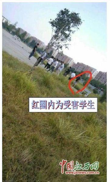"""江西应用科技学院一学生网上投诉""""被多名老师殴打"""""""