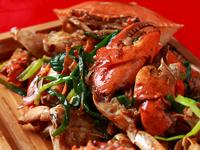 螃蟹最美吃法姜葱�h肉蟹