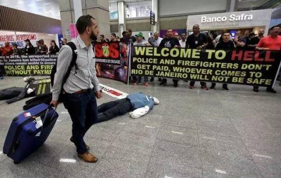 """""""警察和消防员领不到工资,来到里约的人都不安全"""""""