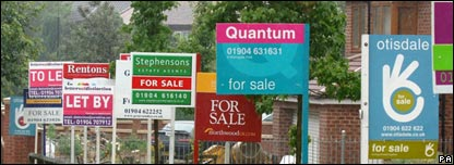 Lots of for sale signs