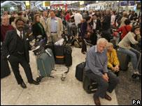 Chaos at Heathrow airport as Terminal 5 opens