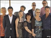 Mamma Mia! cast and members of ABBA