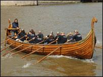 A Viking longship
