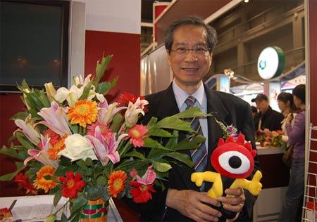 图文:香港理工大学校长潘宗光教授与小浪人