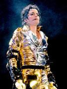 杰克逊一身金装
