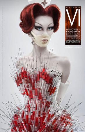 小护士被插_组图:《电锯惊魂6》新海报 性感护士身插针筒