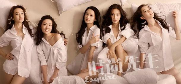 新《红楼》五金钗写真 床上大玩枕头游戏