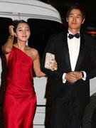 刘志泰和秀爱亮相红毯