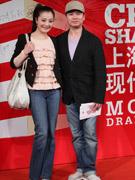 赵志刚(右)和夫人陈��
