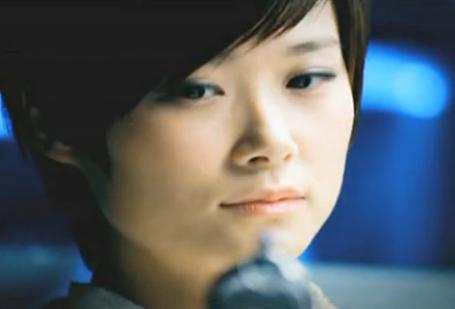 李宇春拍摄宣传片