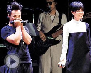 王菲首当嘉宾 为陈奕迅站台合唱