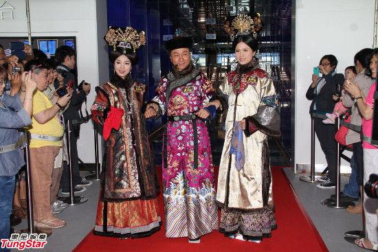 左至右:米雪、黎耀祥、邵美琪