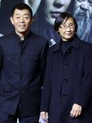 顾长卫(左)崔宝珠