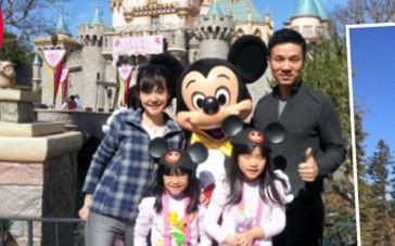 小S[微博]全家游迪士尼