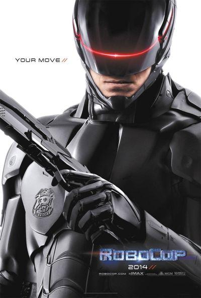新版机械战警的盔甲也由原来的银灰色变为黑色。