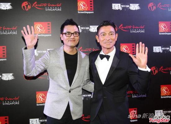 《风暴》新加坡首映 刘德华为林家栋翻译|刘德
