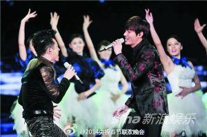 马年春晚上,李敏镐、庾澄庆等都被网友质疑假唱